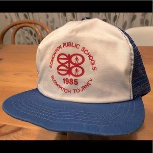 Vintage 1985 Edmonton Schools trucker snapback cap